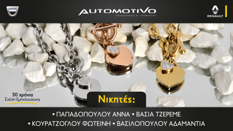 Νικητές Διαγωνισμού Automotivo